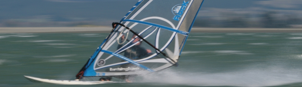 Windsurfing at high speed!
