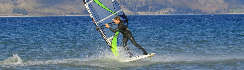 Freestyle on Lake Hawea in the winter