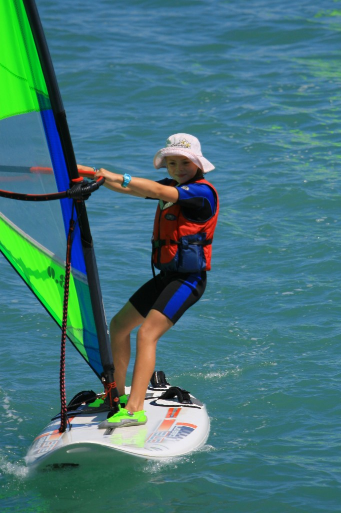 Our youngest and smallest windsurfer to date - and blooming good too!